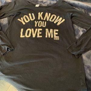 Victoria Secret size large sleep shirt.
